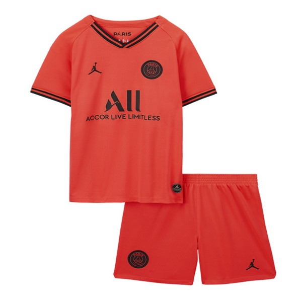 Tute Da Calcio JORDAN Away Set Completo Bambino Paris Saint Germain 2019 2020 Oroange